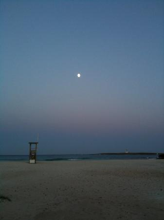 Punta Prima beach at night