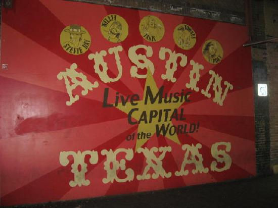 Austin, Teksas: sign on 6th Street