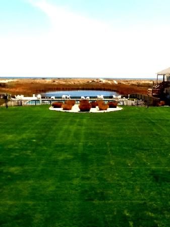 The Ocean Dunes at Amagansett: view of pool, nature perserve and Atlantic Ocean