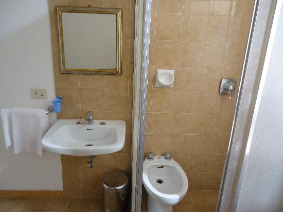 Hotel Aldobrandini: Bidet in shower, but not toilet in room