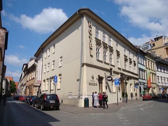 Hotel Amadeus: Street view of hotel