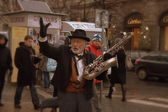 Prague, Czech Republic: Jazz on Old-Town Square
