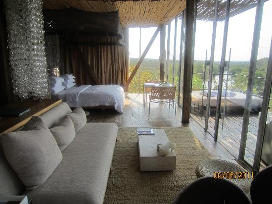 Singita Lebombo Lodge: Beautiful room overlooking nature