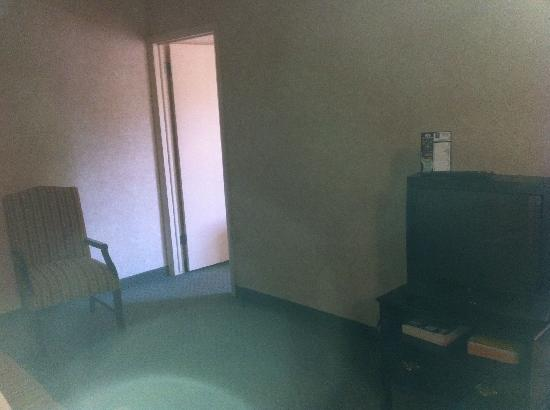 Comfort Inn & Suites N at Pyramids: From the dark sitting room