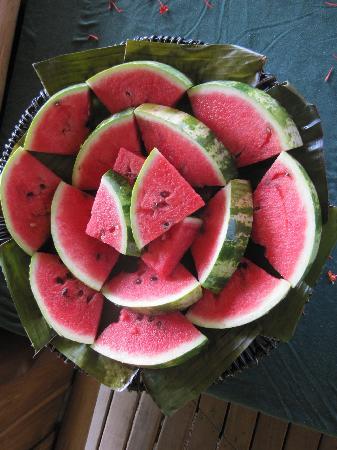 The Gecko Restaurant: fresh fruits!