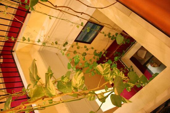 Bahia Hotel: Escalera interior y sala de estar