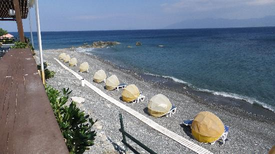 Dimitra Beach Hotel: the beach a small view