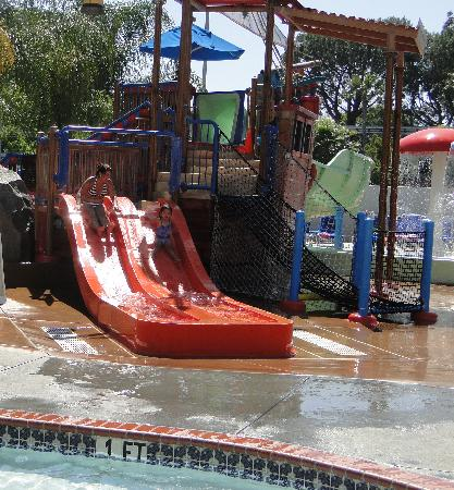 Howard Johnson Anaheim Hotel and Water Playground: Water slides!