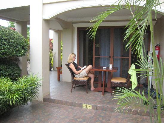 Alona Golden Palm Resort: our terrace