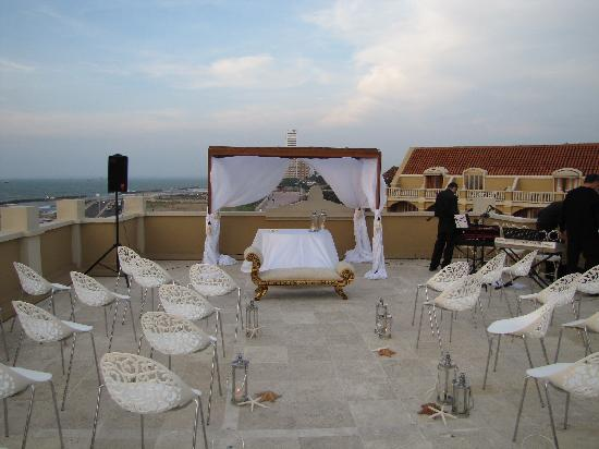 Sofitel Legend Santa Clara: Terrace of the hotel were wedding was held