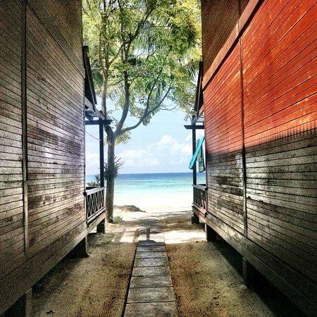 Pulau Perhentian Besar, Malaisie : Arawana Resort. Pulau Perhentan Besar.