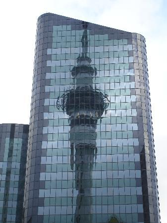 Sky Tower: Skytower reflection