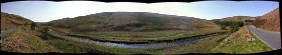 Lancaster, UK: Panorama of Trough of Bowland, from bowlandwalks.co.uk