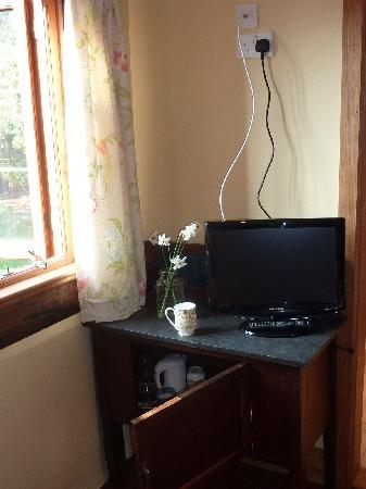 Huntlands Farm Bed & Breakfast: new Television, flat screen