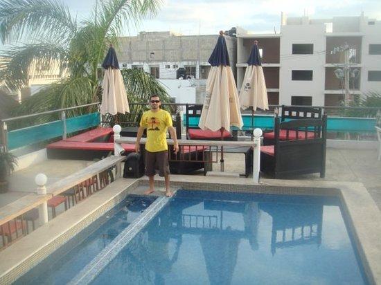 Hostel Rio Playa : terraza hostal rio
