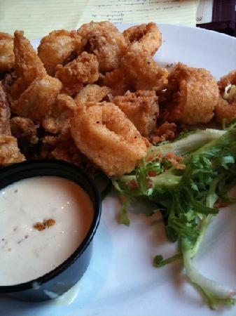 Calamari appetizer.