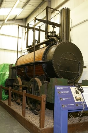 Stephenson Railway Museum: An engine in the museum