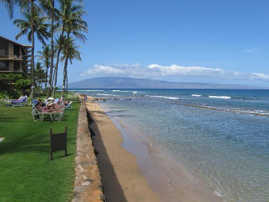 Aston at Papakea Resort: Beach in front of Papakea looking towards Kaanapali shores