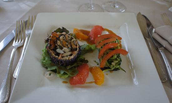 Chateau de Marechal de Saxe: un piatto del menù di pasqua
