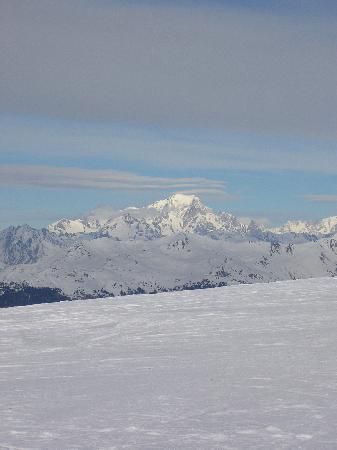 Les Cretes : Vue sur le Mont Blanc