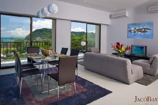 Jaco Bay Resort Condominium: Ramada Jaco Bay - Living Room View