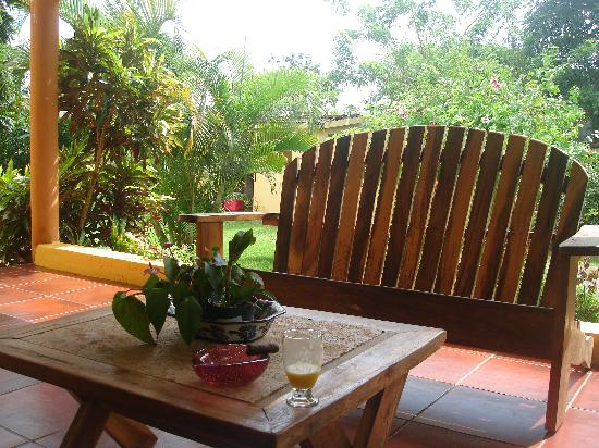 Casa Dorado: Lower Porch off Dining Room