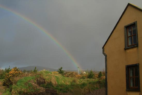 Seaside B & B: our bedroom with rainbow
