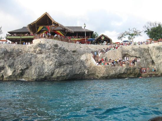 Hotel Riu Palace Tropical Bay: Rick's Cafe from a catamaran.  A must see