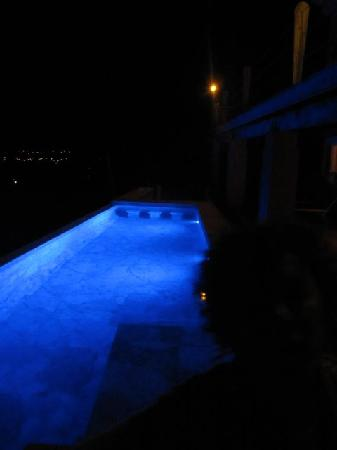 Vieques Villa Gallega A-16-N: pool at night