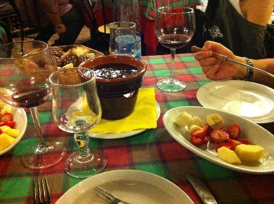 Taverna Lucifero: Fonduta al cioccolato