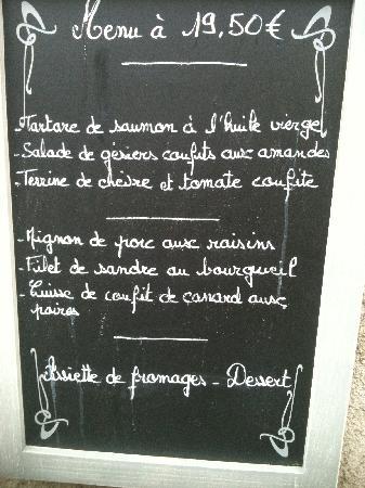 Chez Grand Ma: €19.50 menu