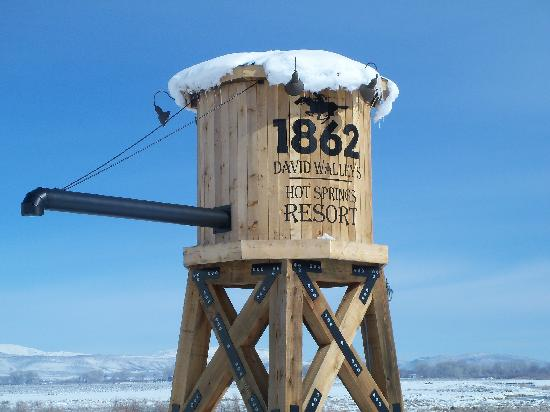 1862 David Walley's Hot Springs Resort and Spa: Watch for the water tower,  You are Here!