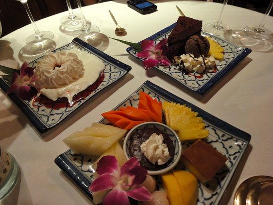 Thai Barcelona Royal Cuisine Restaurant: Los postres