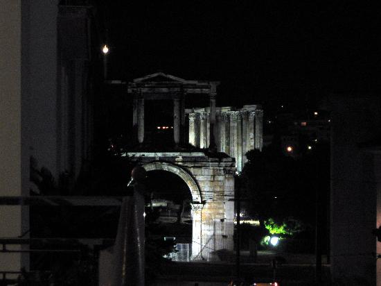 AVA Hotel Athens: Lit up at night