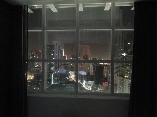 S31 Sukhumvit Hotel: view from bed nightime