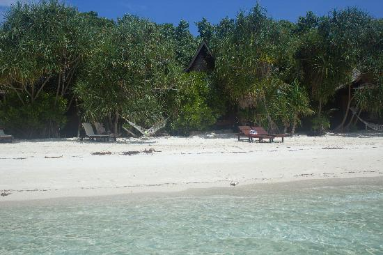 Lankayan Island Dive Resort: View of our chalet on Lankayan Island