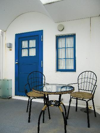 Villa Santorini: 部屋の入口