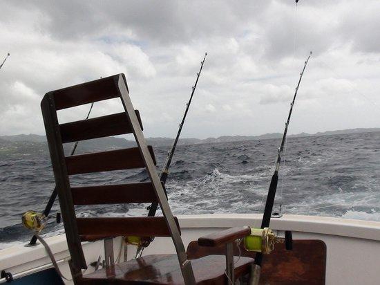 Wayward Wind Grenada Fishing: 'Torture' Chair on board the Wayward Wind Fishing Boat
