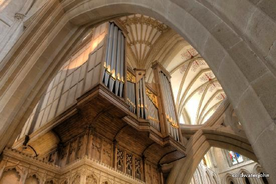 Wells Cathedral organ detail