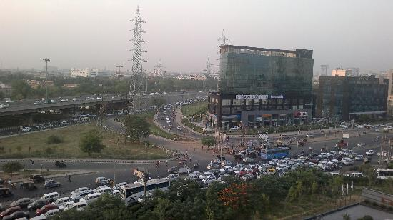 Westin Gurgaon, New Delhi: View of IFFCO Chowk from the room