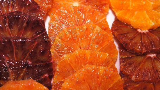 Eremo della Giubiliana : Blood oranges at breakfast