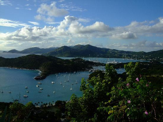 Saint Philip, Antigua: English Harbour from Shirley Heights