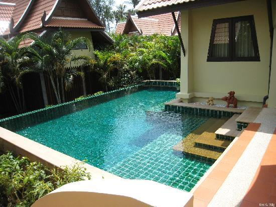 The pool view of the Villa