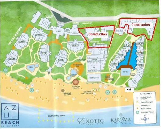 azul beach resort riviera maya map of azul beach