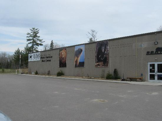 Outside of the North American Bear Center