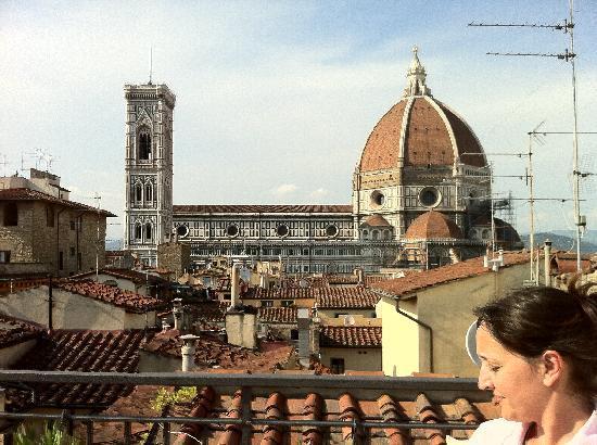 B&b Casa di Dante: Vistas desde la terraza