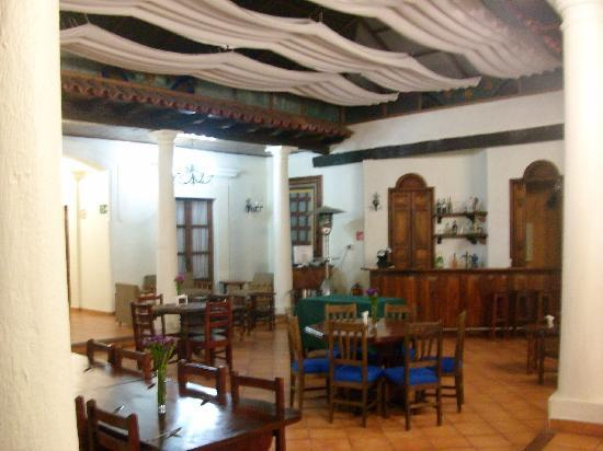 Hotel Casa de Guadalupe: restaurant and bar