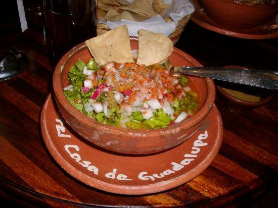 Hotel Casa de Guadalupe: delicious food