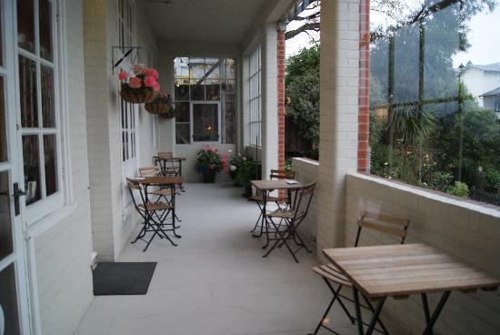 The Brothers Boutique Hotel: Ground floor balcony
