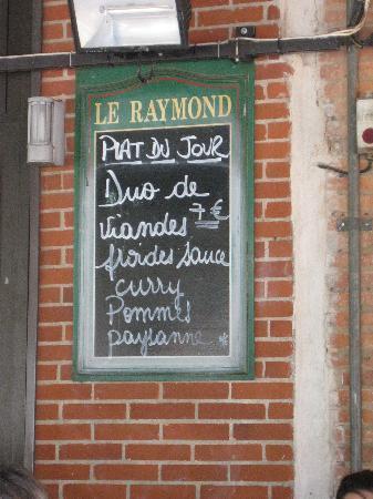 Montauban, France: plat du jour 7 EUR